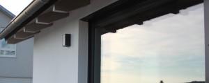 Dachlatten Farbanstrich und Außenputz